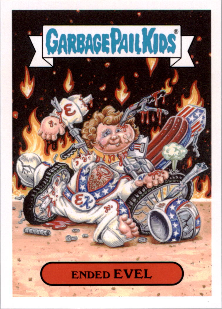 2016 Garbage Pail Kids Apple Pie American Icons #6a Ended Evel