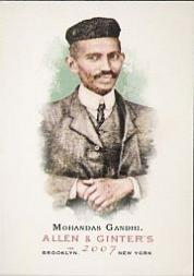 2007 Topps Allen and Ginter #103 Mohandas Gandhi