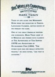 2007 Topps Allen and Ginter #108 Mark Twain back image