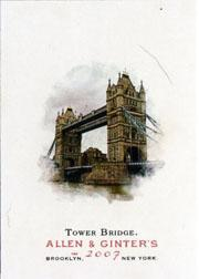 2007 Topps Allen and Ginter #192 Tower Bridge