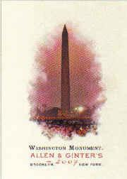 2007 Topps Allen and Ginter #268 Washington Monument
