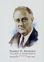 2007 Topps Allen and Ginter #269 Franklin D. Roosevelt