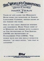 2007 Topps Allen and Ginter Mini #108 Mark Twain back image