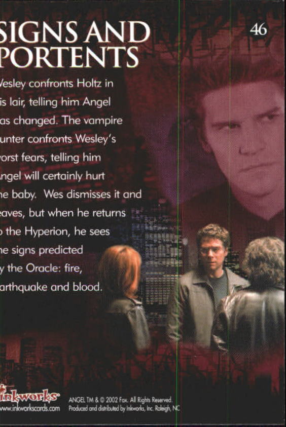 2002 angel season three 46 signs and portents ebay for Sign and portents