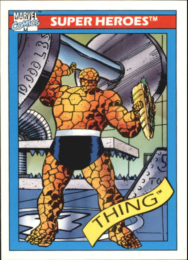 1990 Marvel Universe I #6 Thing