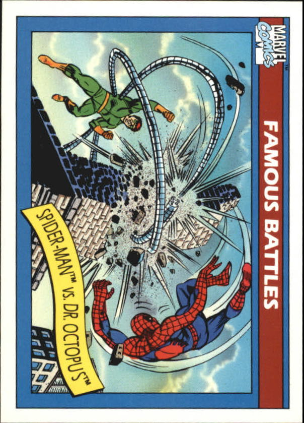1990 Marvel Universe I #93 Spider-Man vs. Dr. Octopus