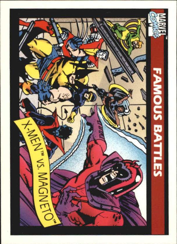 1990 Marvel Universe I #100 X-Men vs. Magneto