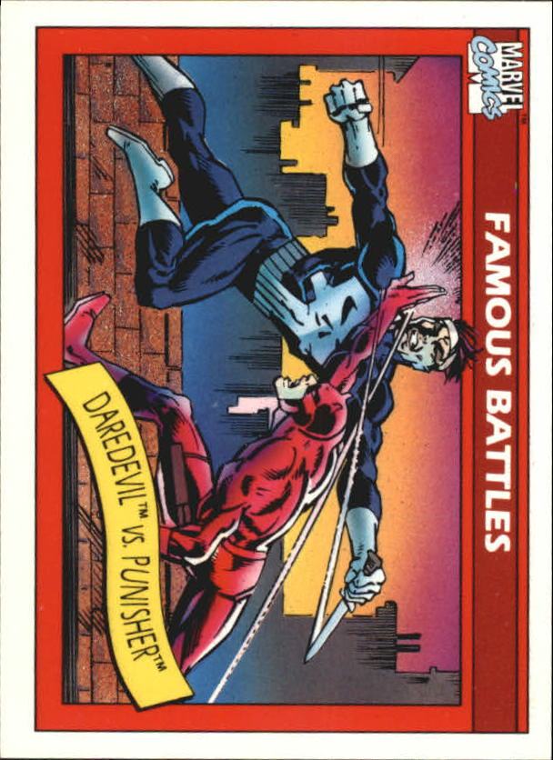 1990 Marvel Universe I #110 Daredevil vs. Punisher