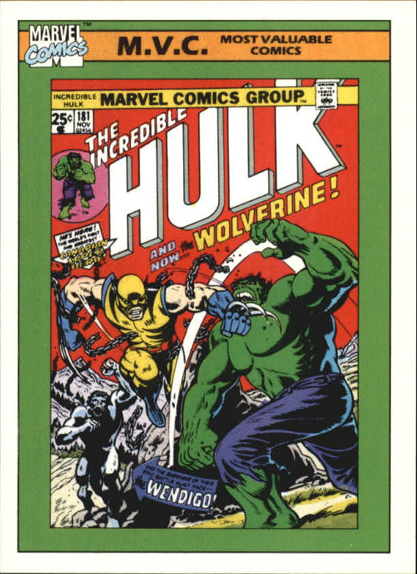 1990 Marvel Universe I #134 Incredible Hulk #181