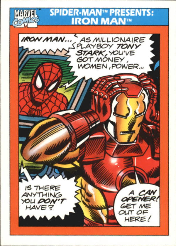 1990 Marvel Universe I #159 Iron Man