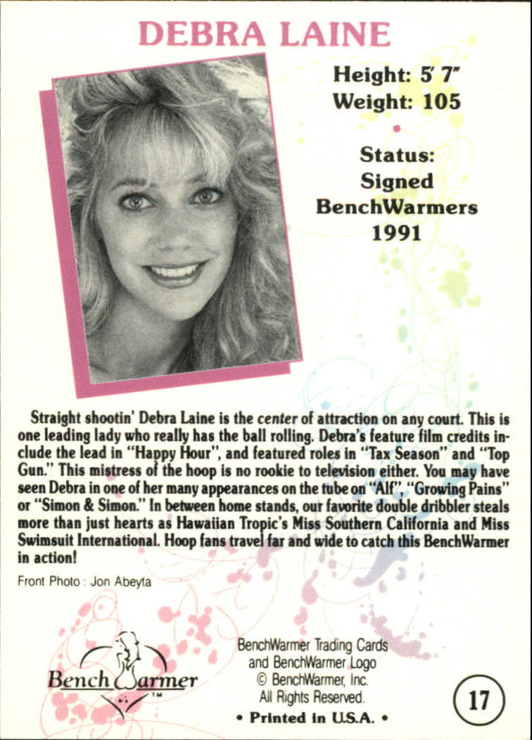 1992 Bench Warmer #17 Debra Laine (lavender back)