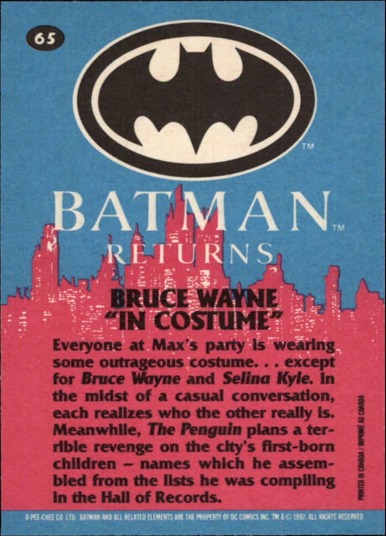 1992 Batman Returns OPC #65 Bruce Wayne In Costume