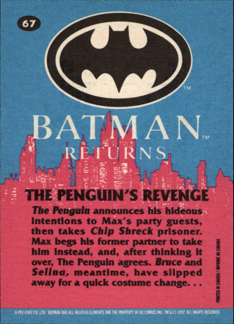 1992 Batman Returns OPC #67 The Penguin's Revenge