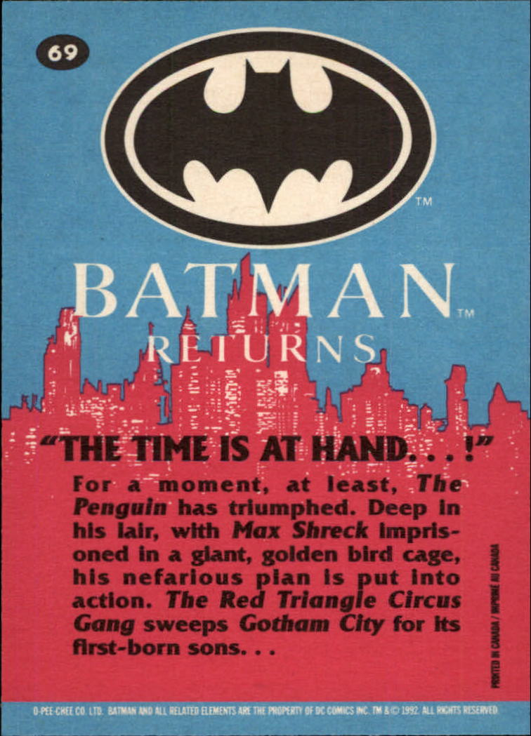 1992 Batman Returns OPC #69 The Time Is At Hand