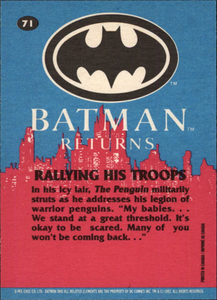 1992 Batman Returns OPC #71 Rallying His Troops