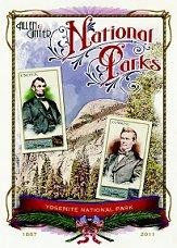 2011 Topps Allen and Ginter Cabinet Baseball Highlights #CB8 Yosemite National Park/Abraham Lincoln/John Conness
