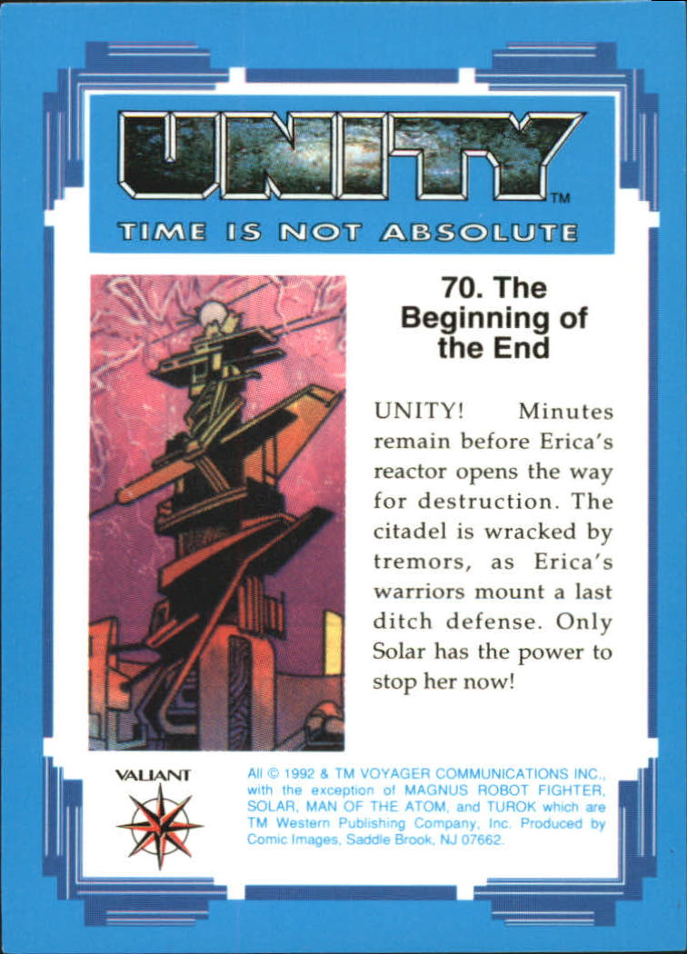 1992 Unity #70 The Beginning of the End