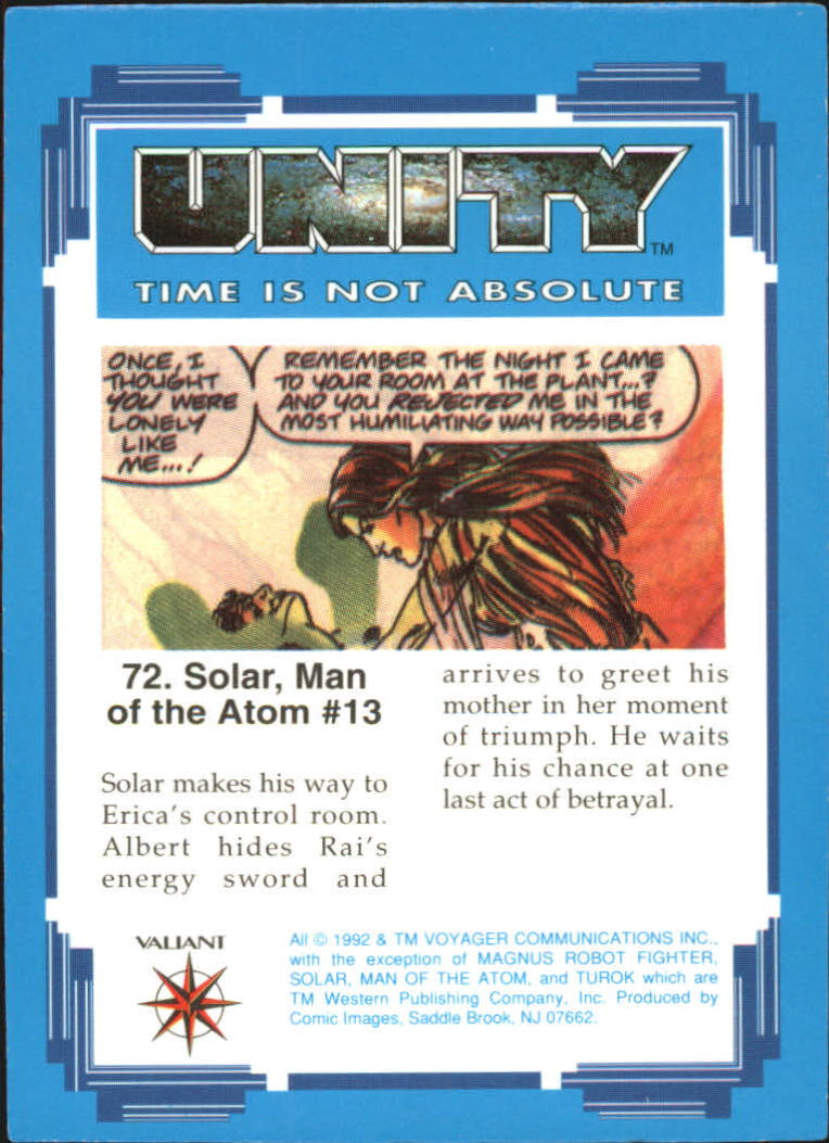 1992 Unity #72 Solar, Man of the Atom #13