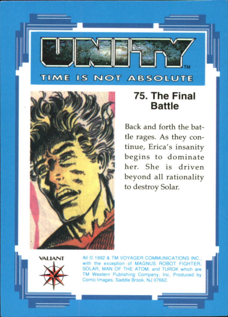 1992 Unity #75 The Final Battle