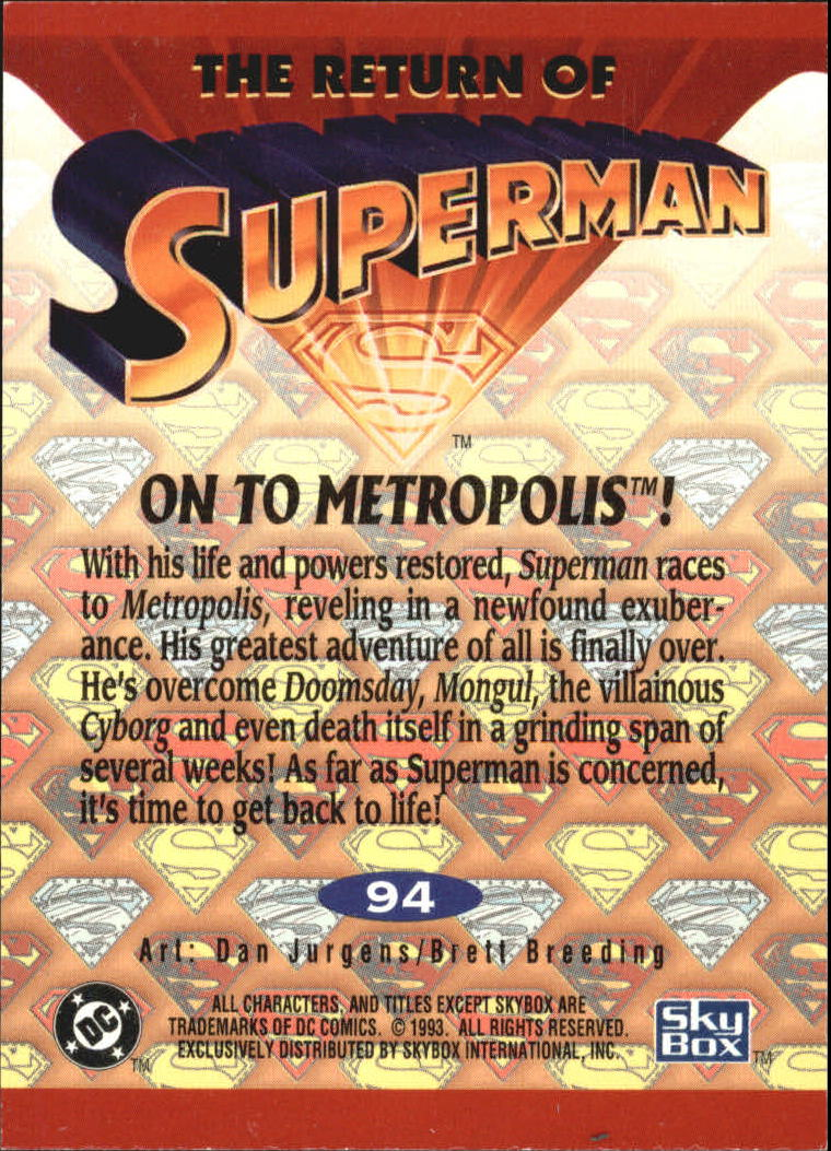 1993 Return of Superman #94 On to Metropolis