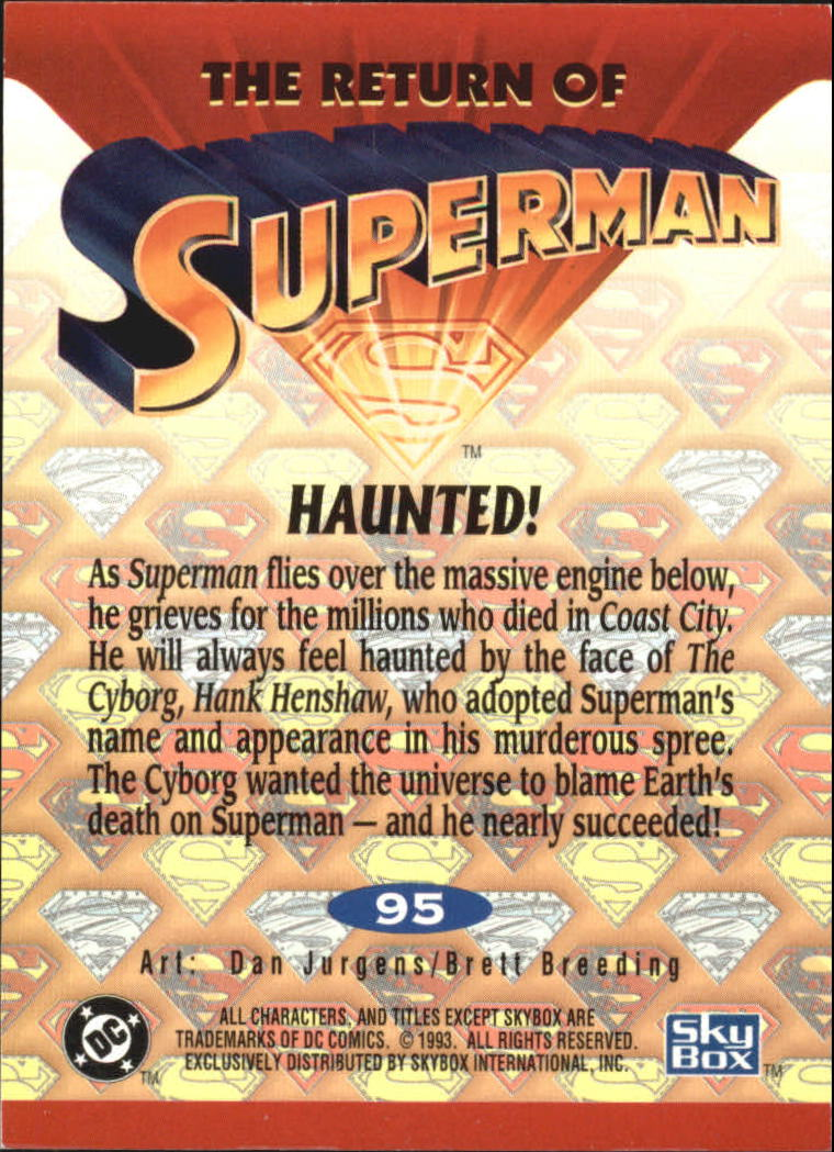 1993 Return of Superman #95 Haunted
