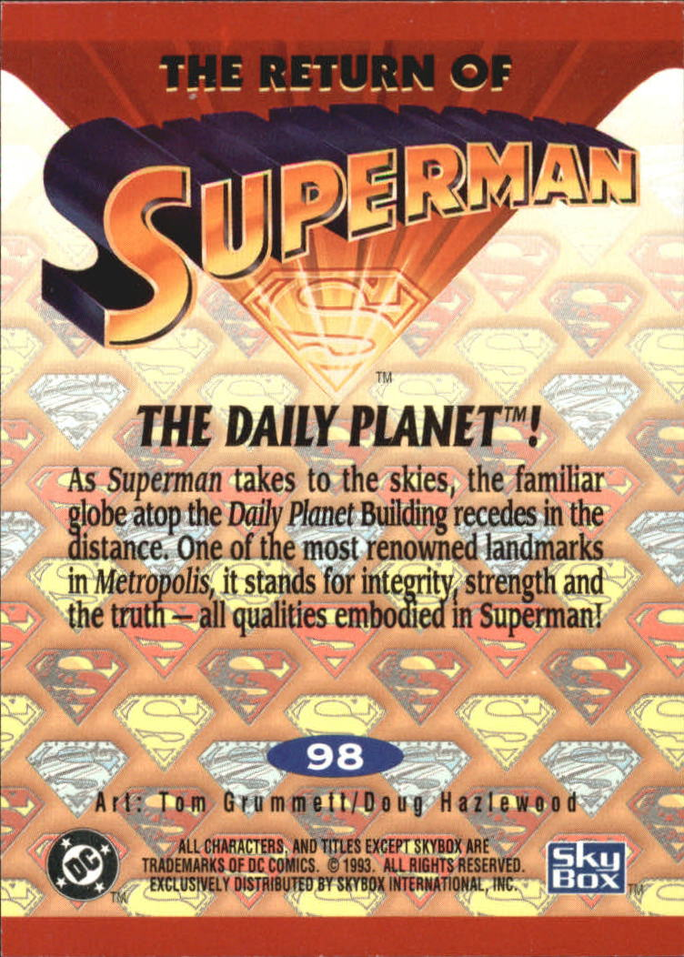 1993 Return of Superman #98 The Daily Planet