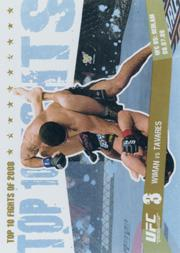 2009 Topps UFC Round 1 Top 10 Fights of 2008 Gold #10 Wiman/Tavares