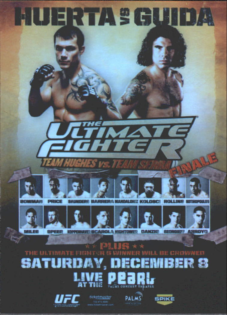 2009 Topps UFC Fight Poster #TUF6 TUF 6 Finale/Roger Huerta/Clay Guida