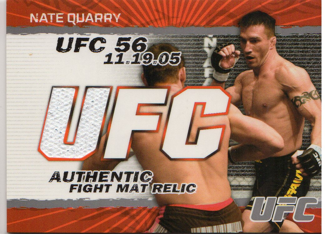 2009 Topps UFC Fight Mat Relics #FMNQ Nate Quarry C
