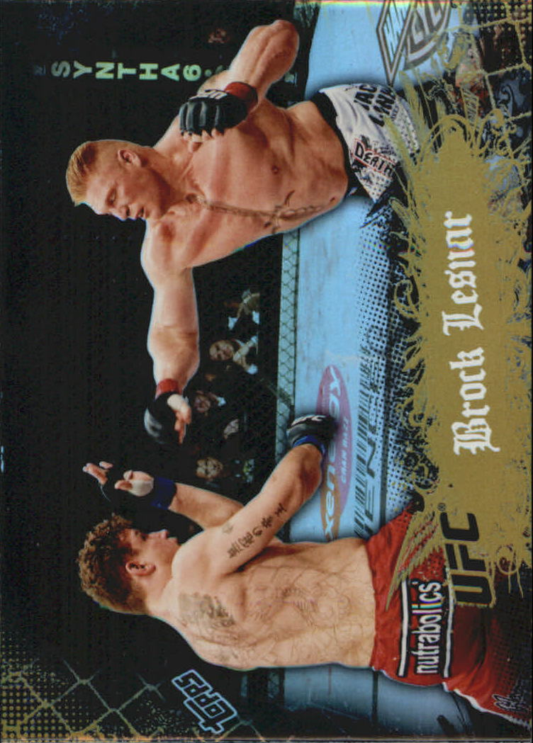 2010 Topps UFC Main Event Gold #66 Brock Lesnar