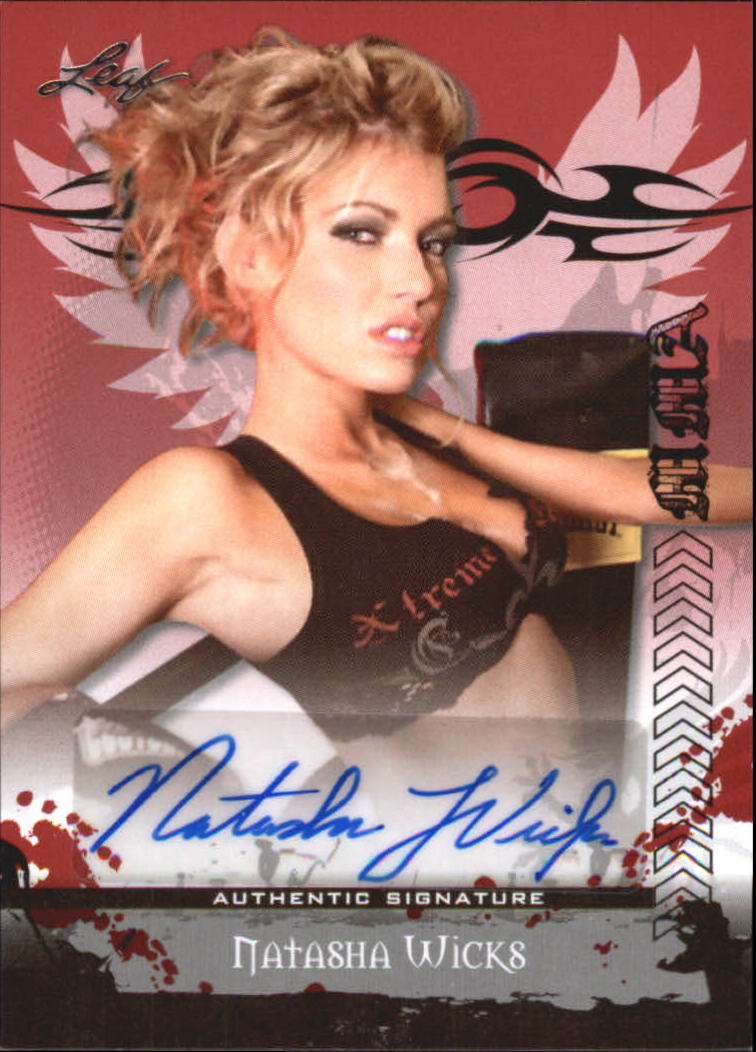 2010 Leaf MMA Autographs Red #AUNW1 Natasha Wicks