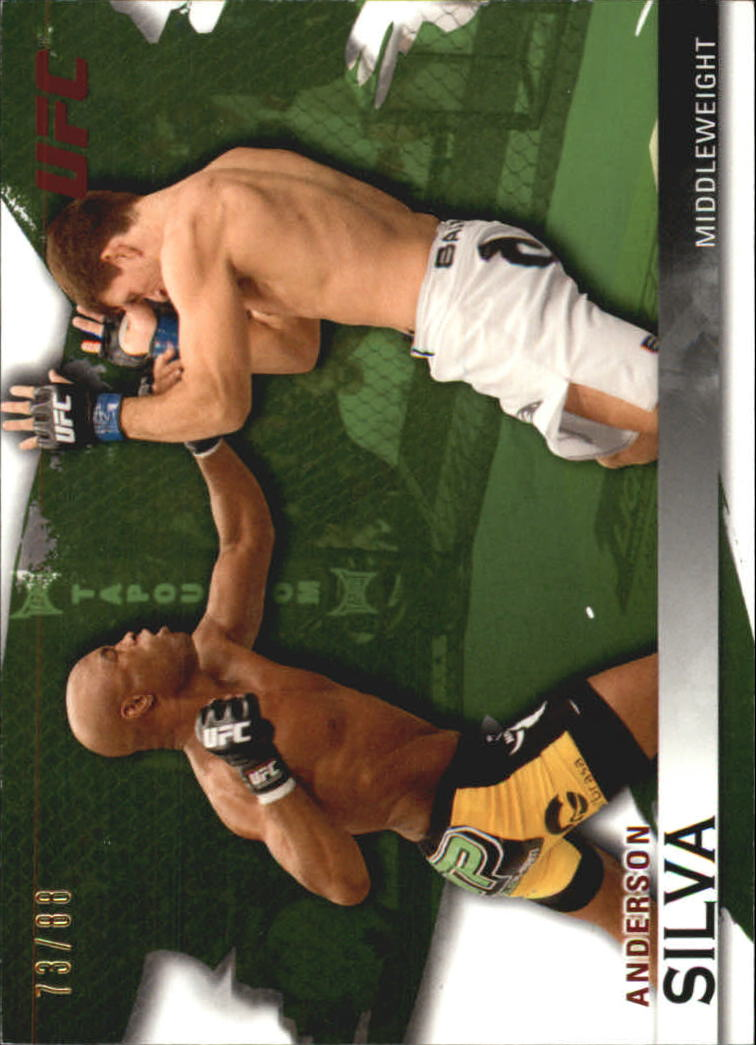 2010 Topps UFC Knockout Green #14 Anderson Silva