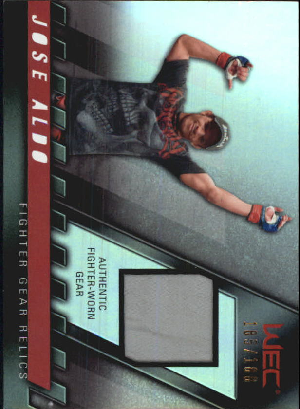 2010 Topps UFC Knockout Fighter Gear Relics #FGJA Jose Aldo