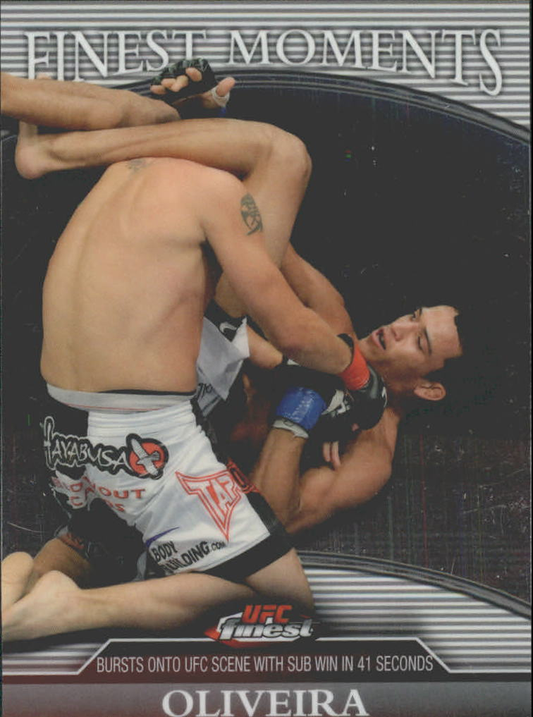 2011 Finest UFC Finest Moments Refractors #FMCO Charles Oliveira