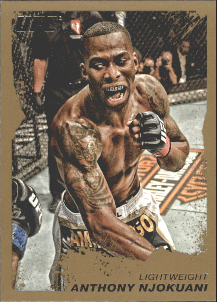 2011 Topps UFC Moment of Truth Gold #78 Anthony Njokuani