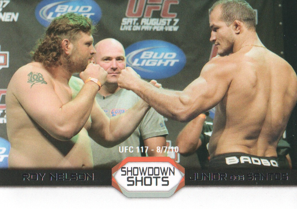 2011 Topps UFC Moment of Truth Showdown Shots #SSND Roy Nelson/Junior dos Santos UFC 117