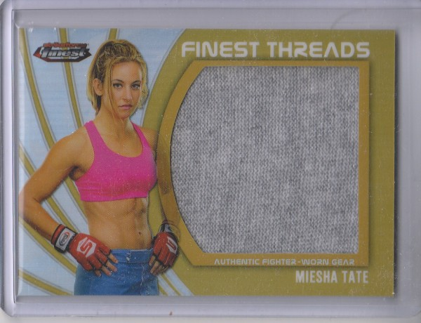 2012 Finest UFC Finest Threads Jumbo Fighter Relics Refractors Gold #JFTMT Miesha Tate