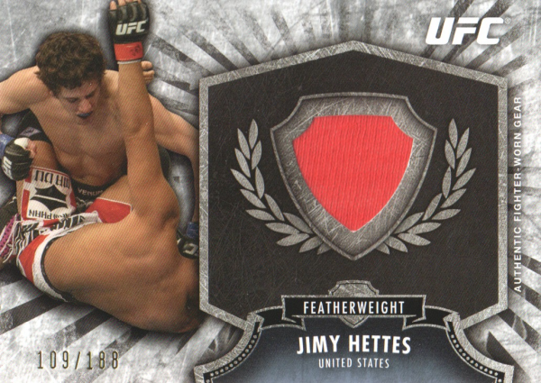 2012 Topps UFC Bloodlines Fighter Relics #FRJHE Jimy Hettes
