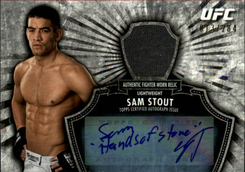 2012 Topps UFC Bloodlines Fighter Relics Autographs #FARSST Sam Stout/284