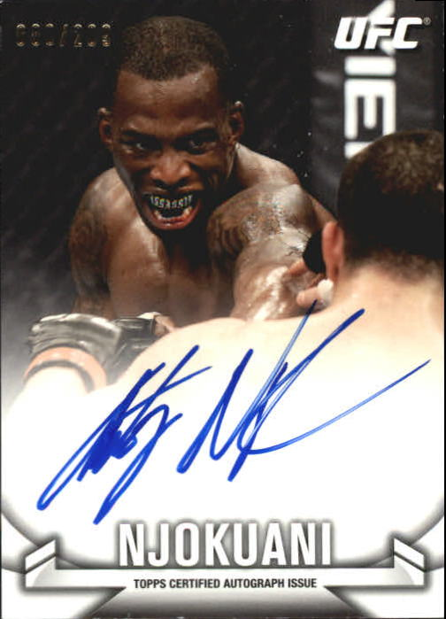 2013 Topps UFC Knockout Autographs #KAAN Anthony Njokuani/209