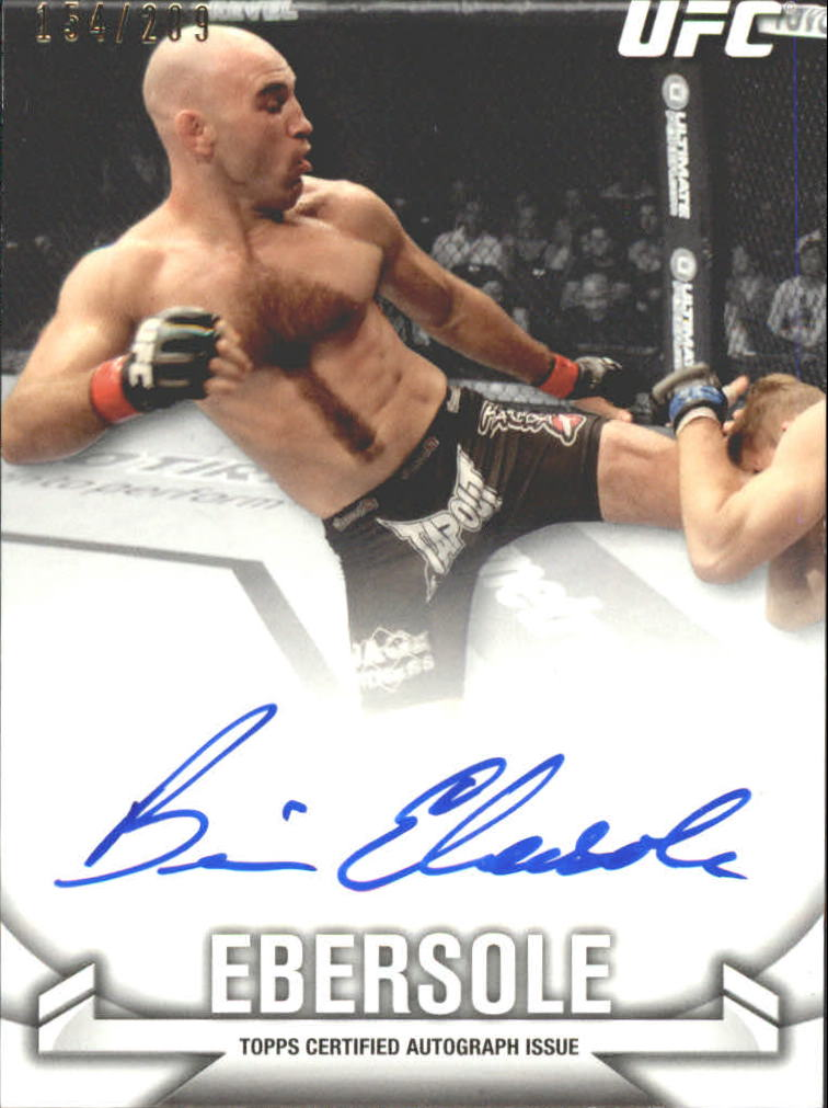 2013 Topps UFC Knockout Autographs #KABE Brian Ebersole/209