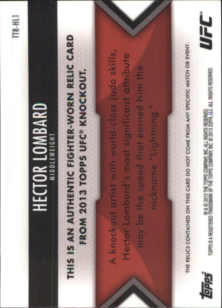2013 Topps UFC Knockout Triple Threads Relics #TTRHL1 Hector Lombard