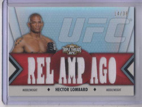 2013 Topps UFC Knockout Triple Threads Relics #TTRHL2 Hector Lombard