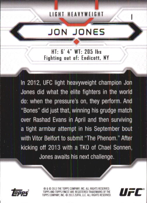 2013 Finest UFC #1 Jon Jones