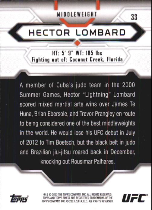 2013 Finest UFC #33 Hector Lombard