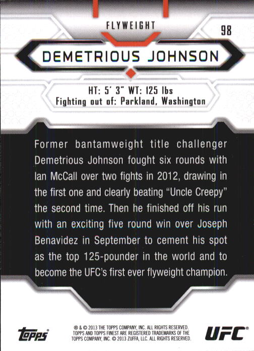2013 Finest UFC #98 Demetrious Johnson