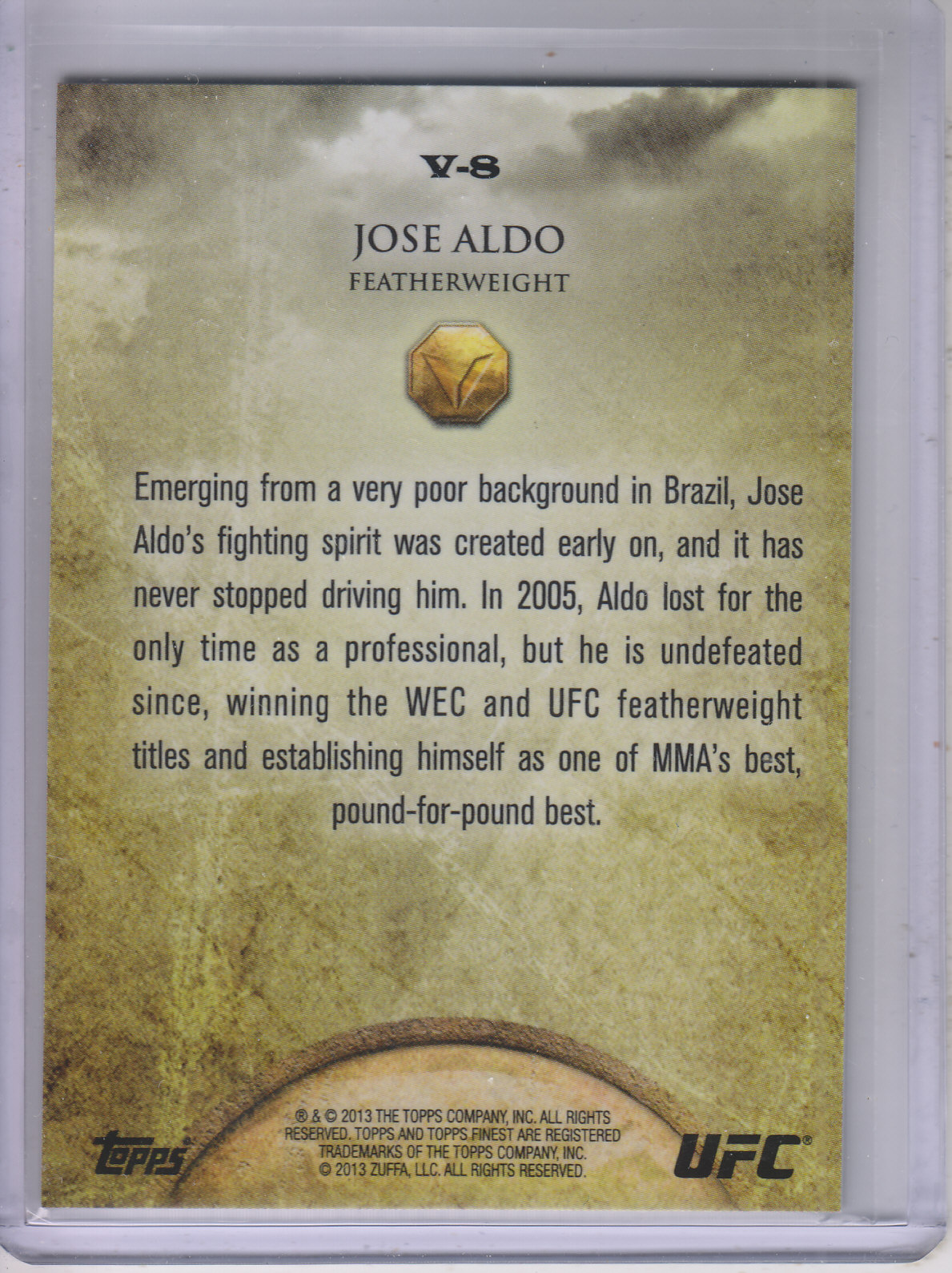 2013 Finest UFC Valor #V8 Jose Aldo