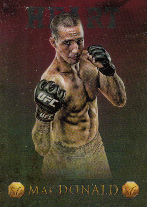 2013 Finest UFC Valor Heart #V23 Rory MacDonald