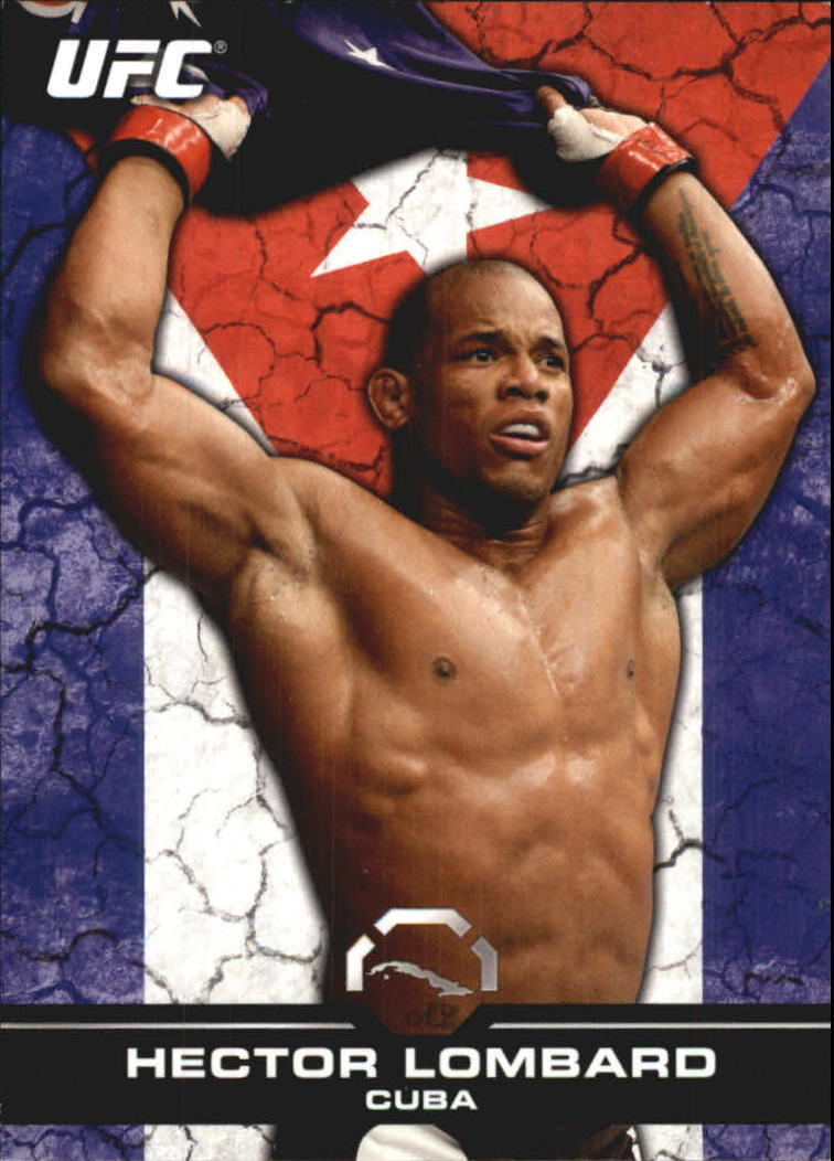 2013 Topps UFC Bloodlines Flag Parallel #45 Hector Lombard