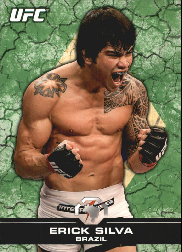 2013 Topps UFC Bloodlines Flag Parallel #51 Erick Silva